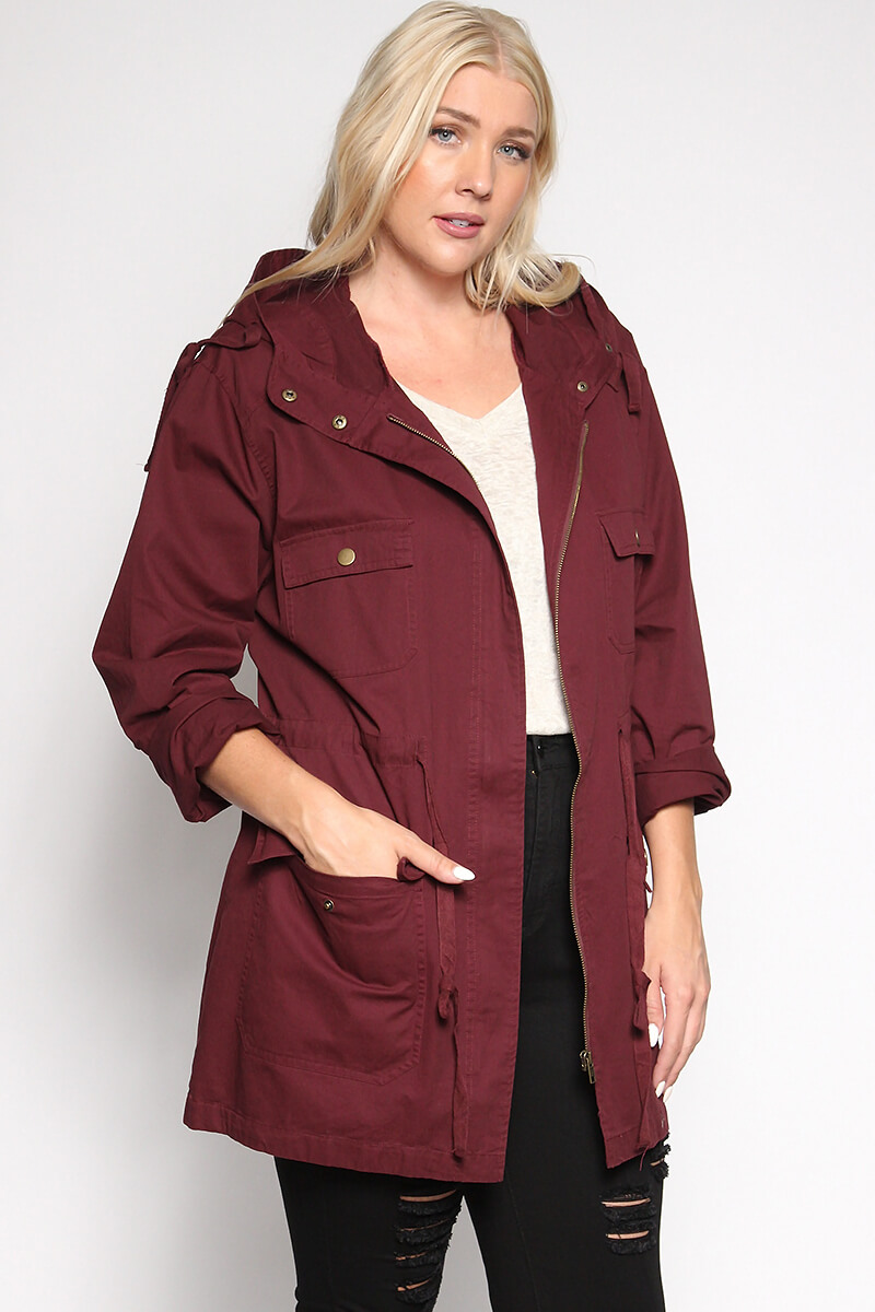 Burgundy Military Coat Fashion Women S Coat 2017